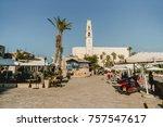 tel aviv jaffa israel  ... | Shutterstock . vector #757547617