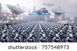 invasion of military robots.... | Shutterstock . vector #757548973