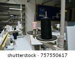 black thread and colour thread... | Shutterstock . vector #757550617