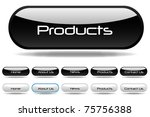black and white web buttons | Shutterstock .eps vector #75756388