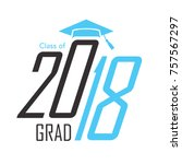 class of 2018 congratulations... | Shutterstock .eps vector #757567297