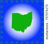 map of  ohio  | Shutterstock .eps vector #757574173