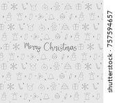 christmas element icons... | Shutterstock .eps vector #757594657