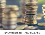 euro currency. euro coins... | Shutterstock . vector #757603753