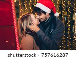 beautiful young couple in love...   Shutterstock . vector #757616287