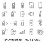 set of cellular related vector... | Shutterstock .eps vector #757617283