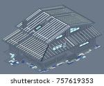 the author's architectural... | Shutterstock .eps vector #757619353
