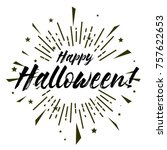 happy halloween  beautiful... | Shutterstock .eps vector #757622653