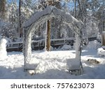 beautiful christmas snowy day    Shutterstock . vector #757623073
