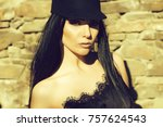 young beautiful woman in...   Shutterstock . vector #757624543