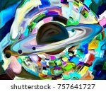 stained glass forever series.... | Shutterstock . vector #757641727