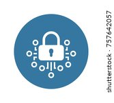 cryptography icon. modern... | Shutterstock .eps vector #757642057