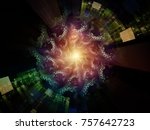 central design series. abstract ... | Shutterstock . vector #757642723