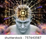 mind processor series. 3d... | Shutterstock . vector #757643587