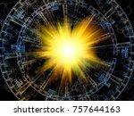 fractal swirl series. abstract... | Shutterstock . vector #757644163