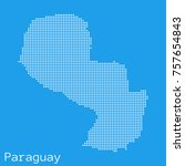 vector paraguay map silhouette...