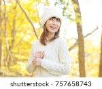 smiling asian woman   Shutterstock . vector #757658743