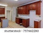 home improvement kitchen... | Shutterstock . vector #757662283