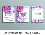 modern business brochure set... | Shutterstock .eps vector #757672063