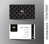 modern business card template...   Shutterstock .eps vector #757675507