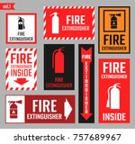 sign of the fire extinguisher | Shutterstock .eps vector #757689967