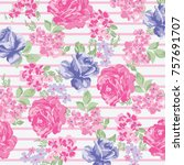 floral pattern in vector | Shutterstock .eps vector #757691707