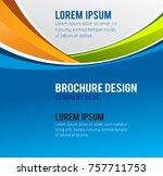 stylish presentation of... | Shutterstock .eps vector #757711753