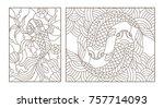 Set Contour Illustrations Of...