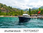 yacht near one of the beaches... | Shutterstock . vector #757724527