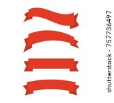 ribbons banners flat isolated.... | Shutterstock .eps vector #757736497