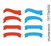 decor vector. ribbons banners... | Shutterstock .eps vector #757736503