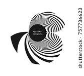 abstract halftone creative... | Shutterstock .eps vector #757736623