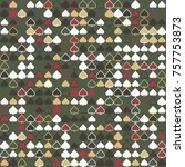 geometric pattern with colored... | Shutterstock .eps vector #757753873