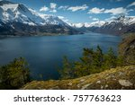 idyllic landscape in norway | Shutterstock . vector #757763623