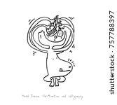 hand drawn illustration   vector | Shutterstock .eps vector #757788397
