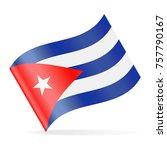 cuba flag vector waving icon  ... | Shutterstock .eps vector #757790167