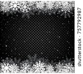 snow transparent dark... | Shutterstock .eps vector #757792987