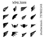 Wing Icon Set Vector...