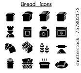 bread  loaf  bakery   pastry... | Shutterstock .eps vector #757802173
