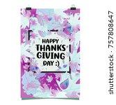 happy thanksgiving vector... | Shutterstock .eps vector #757808647