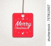 merry christmas badge | Shutterstock .eps vector #757813507