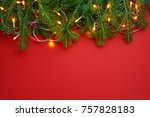 christmas background decoration ... | Shutterstock . vector #757828183