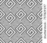 vector seamless pattern.... | Shutterstock .eps vector #757829197