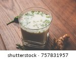 spiced buttermilk also known as ... | Shutterstock . vector #757831957