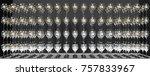 3d rendering of pile of glasses | Shutterstock . vector #757833967