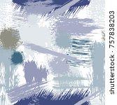 splash brush strokes seamless... | Shutterstock .eps vector #757838203