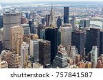 Small photo of Manhattan Skyscraprers Aerial View, NYC, USA