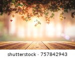 thanks giving concept  wood... | Shutterstock . vector #757842943