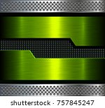 metal background  green... | Shutterstock .eps vector #757845247