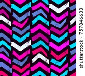 seamless textile doodle pattern ... | Shutterstock .eps vector #757846633